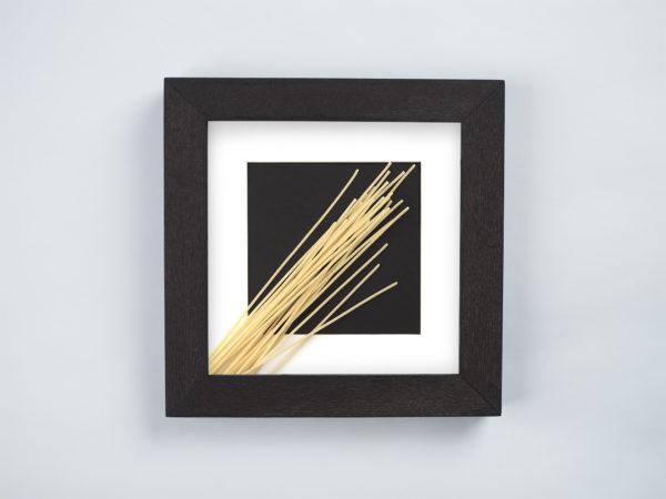 frame with spaghetti