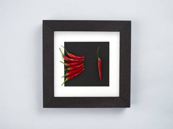 frame with chili pepper