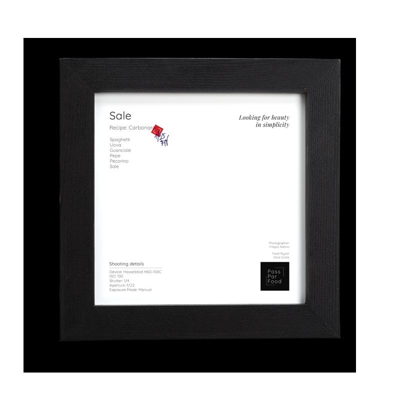 back frame with logo