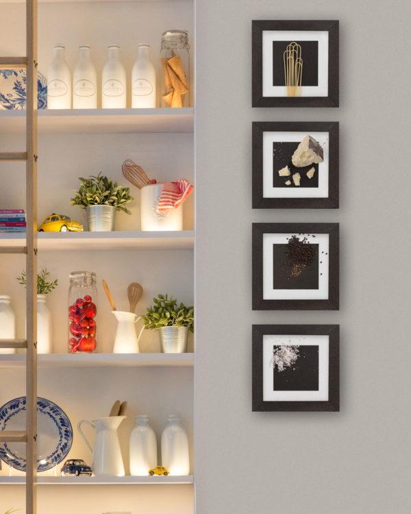 cacio e pepe recipe frames on the wall