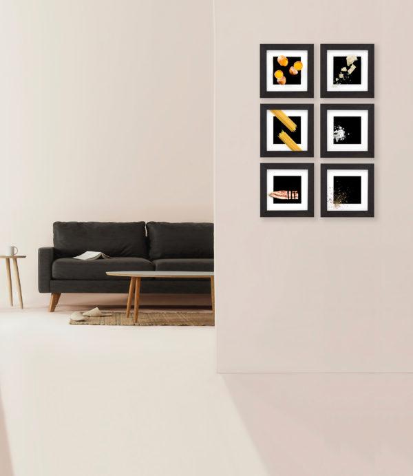 carbonara frames on the wall